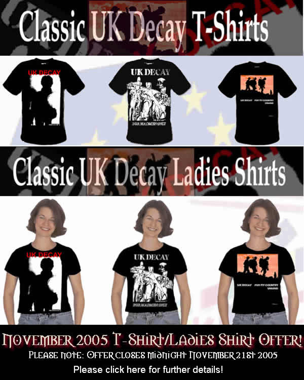 UK Decay T-Shirt offer