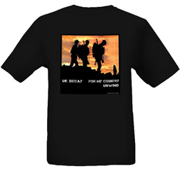 For My Country 2012 T-Shirt: Black