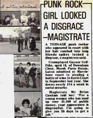 Punk Girl a disgrace!