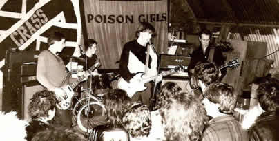 Early UK Decay live with Crass and the Poison Girls at Marsh Farm, Luton 1979