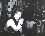 UK Decay's Abbo getting down at the Manchester poly 1982. pics Kindly donated by P.Barlow