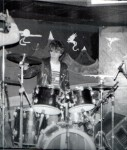 UK Decay's Steve Harle at the Scarborough Tabbo club, 1981