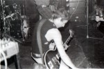 UK Decay's Steve Spon at the Scarborough Tabbo club, 1981