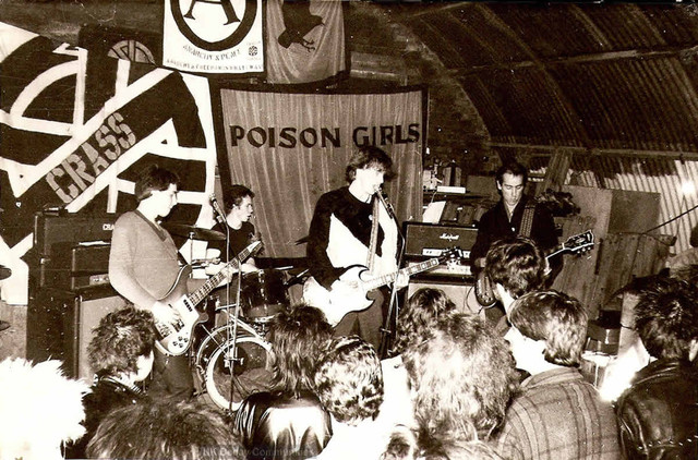 UK Decay, Crass, Poison Girls, Marsh Farm, Luton, 1980