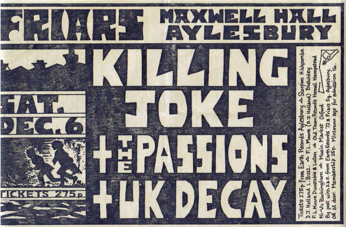 ukdk Friars killing joke poster