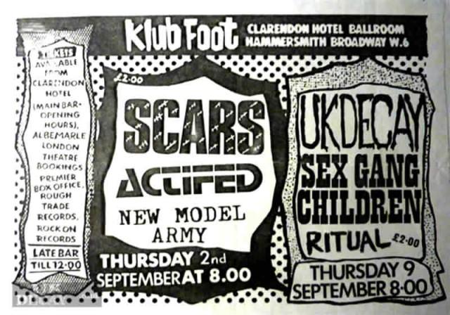 ukdk Klub Foot Clarenden Sept 82