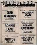 ukdk dead kennedys Music machine 1981