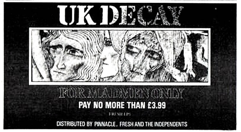 UK Decay ad For Madmen Only Album