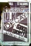 UK Decay and Dance Society at St. Albans City Hall 27/08/82 courtesy, Fish