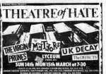 ukdk theatre of hate Lyceum 1982