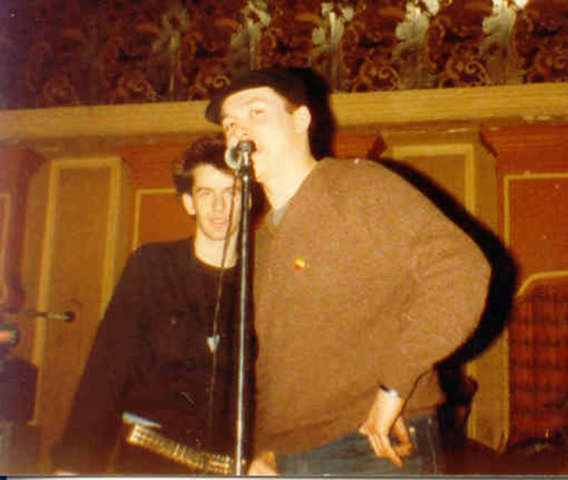"Mark Cottle  ..taken at the Klub Foot in Hammersmith during a sound check, notice Abbo is in the background....""Anee""..."