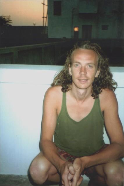 Steve Harle in India on balcony