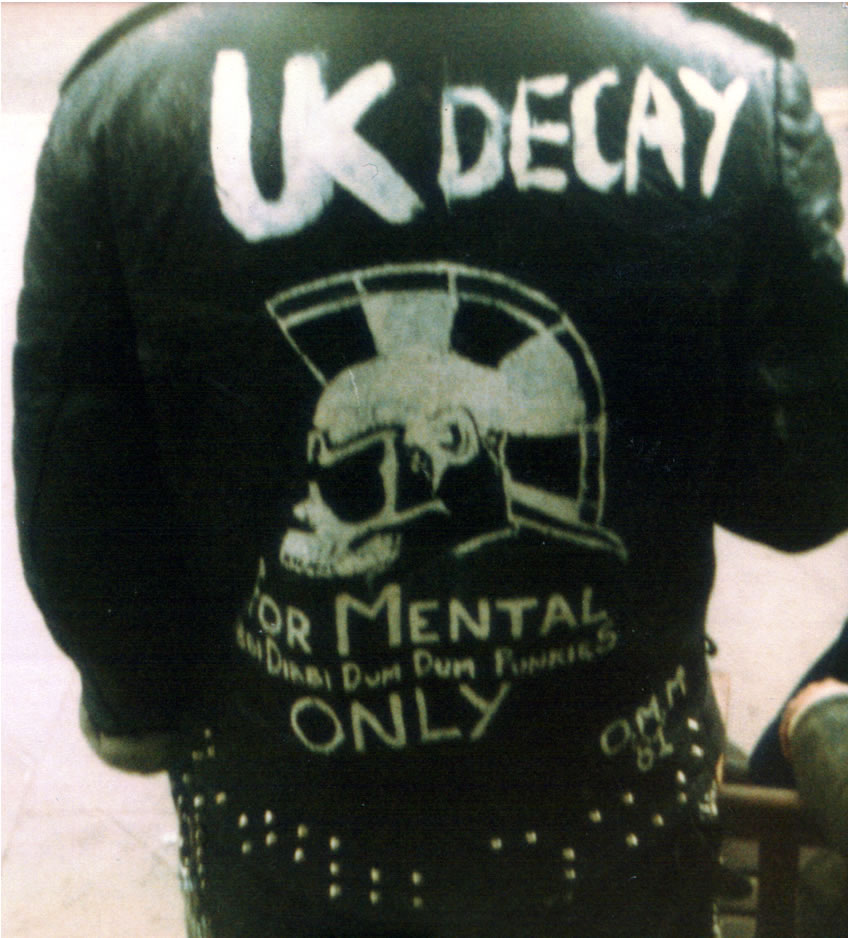 UK Decay jacket at the RoadMenders?? 1981 Photo by Dottie