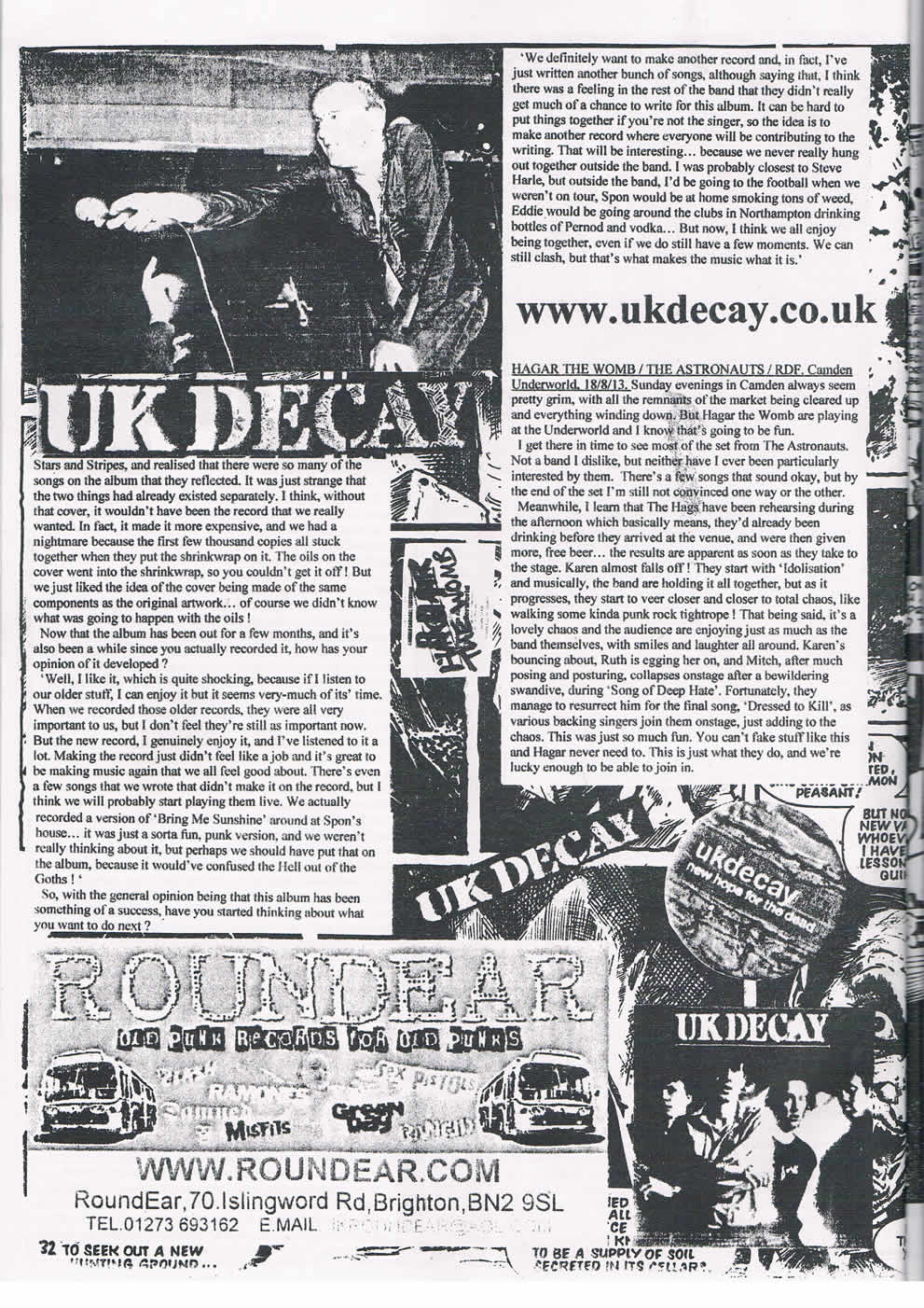 Fear & Loathing interview pt 3  Return to UK-Decay Home