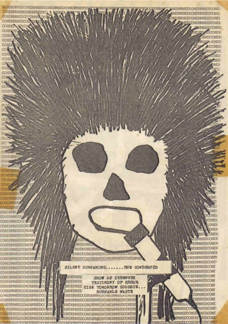 Silent Scream flyer Condemned Pic kindly supplied by Liz with thanx to Alan and Justin from Bedford