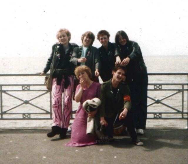 Blackpool 1 August 1979 From rear left, Lol, Val, Sandra, Michelle,(front) Lyndsey and Bez
