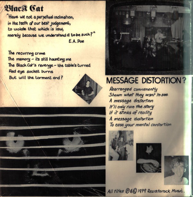 The Black 45: UK Decay: Plastic Records: 1980: inside 1