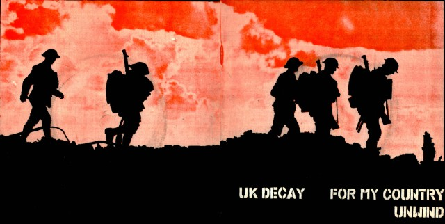 For My Country/Unwind: UK Decay;Fresh Records: 1980; front/back spread