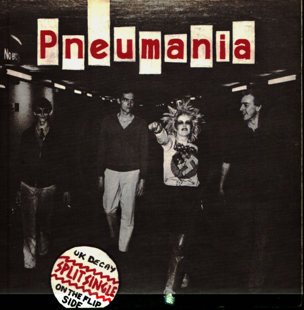 Split single; Pneumanania/side: cover 1979