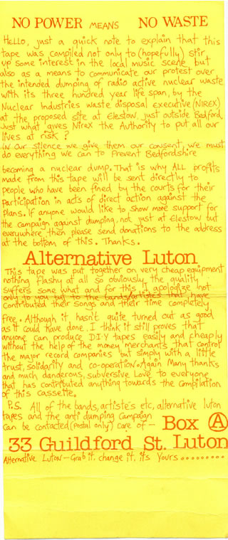 Luton Compilation cover reverse