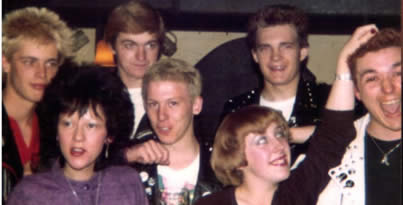 A bunch of Luton and Stevenage punks, circa 1981